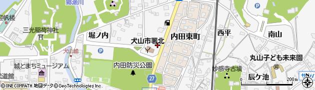 愛知県犬山市犬山(身打田)周辺の地図