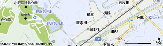 愛知県犬山市善師野(雑志田)周辺の地図