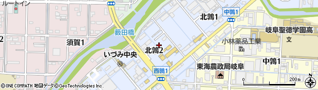 岐阜県岐阜市北鶉周辺の地図