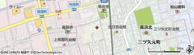 滋賀県長浜市列見町周辺の地図