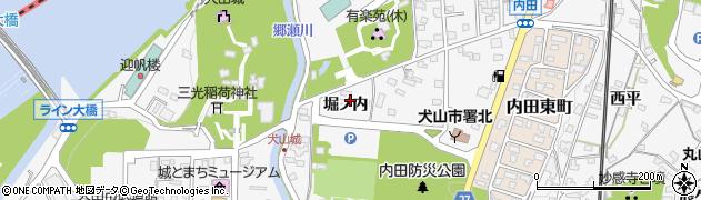 愛知県犬山市犬山(堀ノ内)周辺の地図