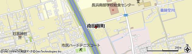 滋賀県長浜市南田附町周辺の地図