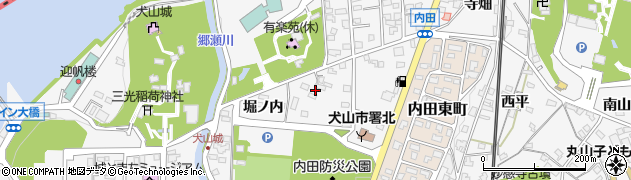 愛知県犬山市犬山(三反田)周辺の地図