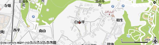 愛知県犬山市犬山(白山平)周辺の地図