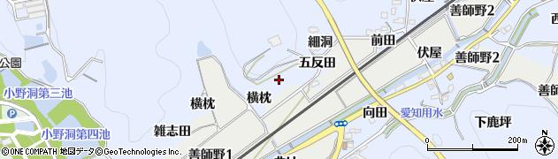 愛知県犬山市善師野(岩久保)周辺の地図