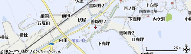愛知県犬山市善師野(橋本)周辺の地図