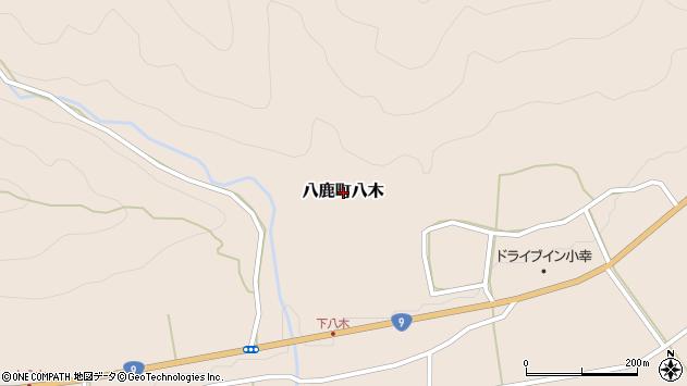 〒667-0041 兵庫県養父市八鹿町八木の地図