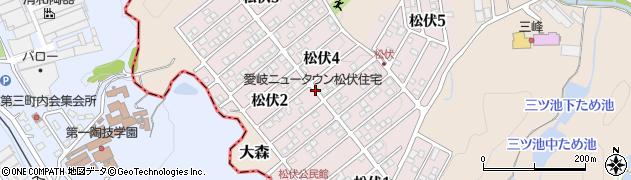 岐阜県可児市松伏周辺の地図