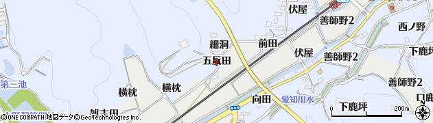 愛知県犬山市善師野(五反田)周辺の地図