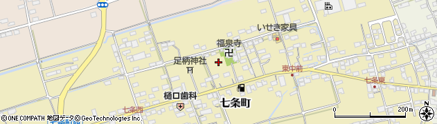 滋賀県長浜市七条町周辺の地図