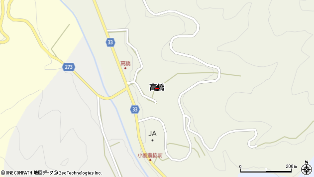 〒682-0146 鳥取県東伯郡三朝町高橋の地図