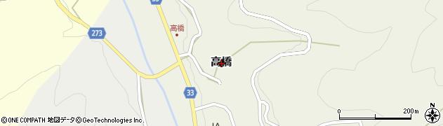 鳥取県三朝町(東伯郡)高橋周辺の地図