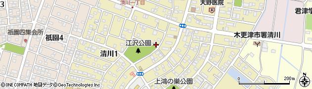千葉県木更津市清川周辺の地図