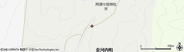 京都府綾部市金河内町(奥地)周辺の地図