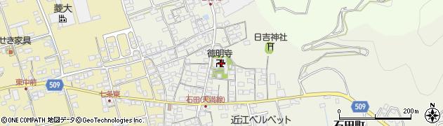 徳明寺周辺の地図