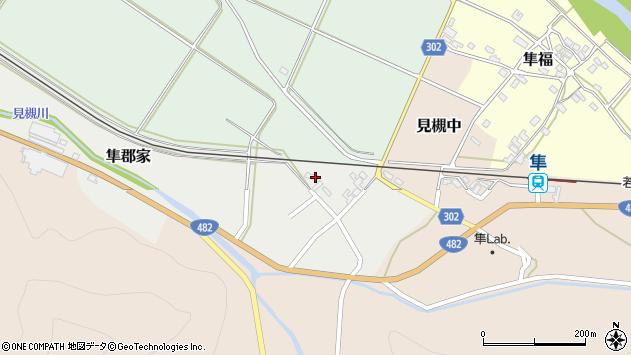 〒680-0405 鳥取県八頭郡八頭町隼郡家の地図