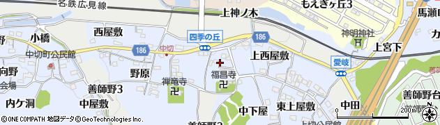愛知県犬山市善師野(下田洞)周辺の地図
