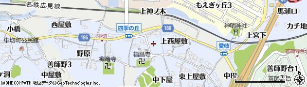 愛知県犬山市善師野(口下屋)周辺の地図