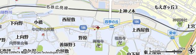 愛知県犬山市善師野(大門下)周辺の地図