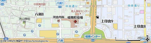 岐阜県羽島郡岐南町周辺の地図