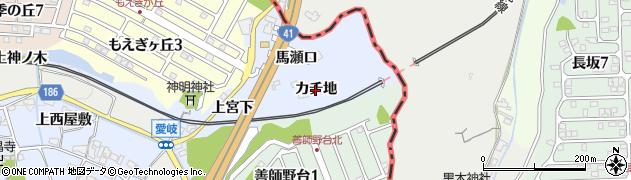 愛知県犬山市善師野(カチ地)周辺の地図