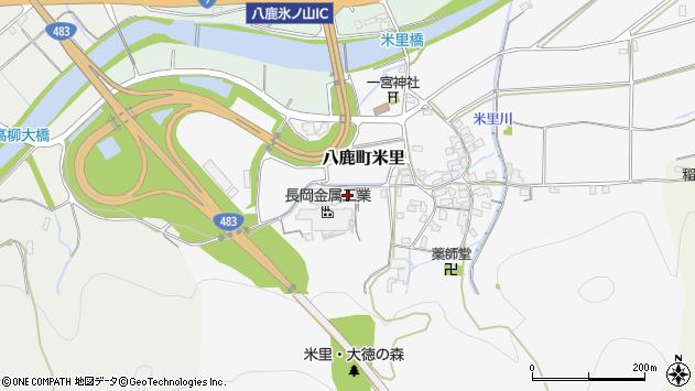 〒667-0045 兵庫県養父市八鹿町米里の地図