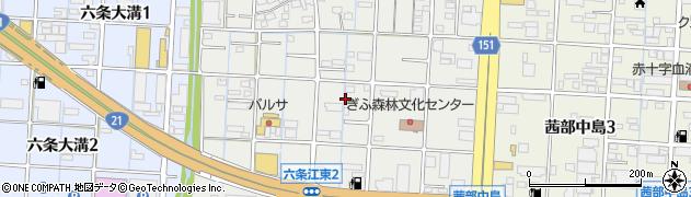 岐阜県岐阜市六条江東周辺の地図