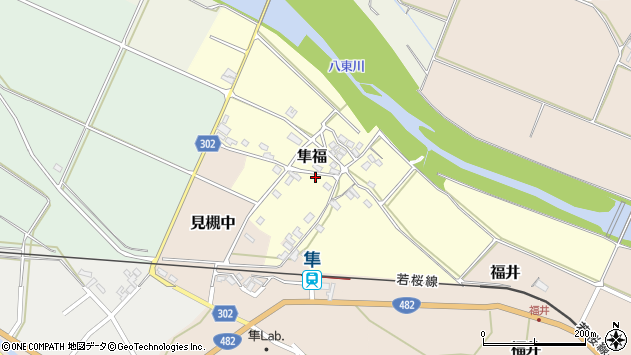 〒680-0402 鳥取県八頭郡八頭町隼福の地図