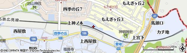 愛知県犬山市善師野(下前田)周辺の地図