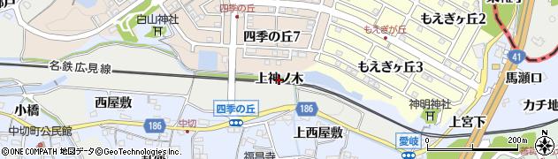 愛知県犬山市善師野(上神ノ木)周辺の地図