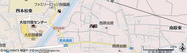 島根県出雲市大社町修理免(西原)周辺の地図