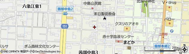 岐阜県岐阜市茜部中島周辺の地図
