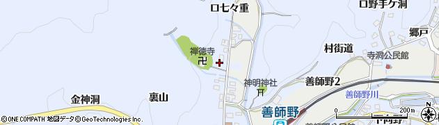 愛知県犬山市善師野(裏田)周辺の地図