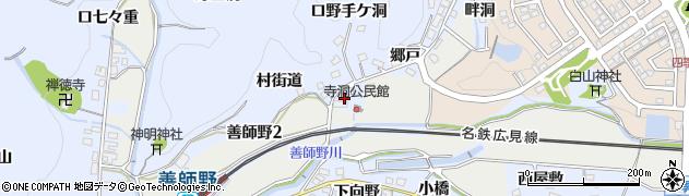 愛知県犬山市善師野(隅田)周辺の地図