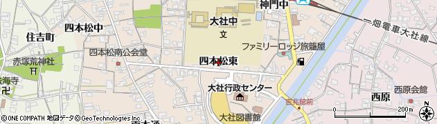 島根県出雲市大社町杵築南(四本松東)周辺の地図