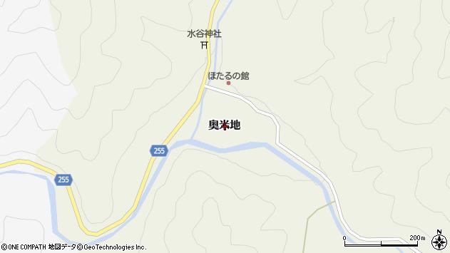 〒667-0121 兵庫県養父市奥米地の地図
