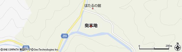 兵庫県養父市奥米地周辺の地図