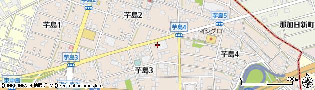 岐阜県岐阜市芋島周辺の地図