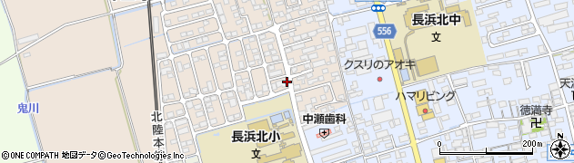 滋賀県長浜市十里町周辺の地図