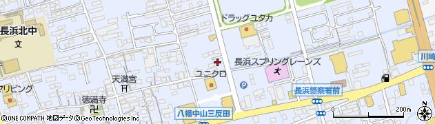 滋賀県長浜市八幡中山町周辺の地図