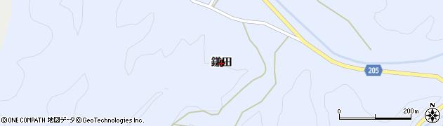 鳥取県三朝町(東伯郡)鎌田周辺の地図