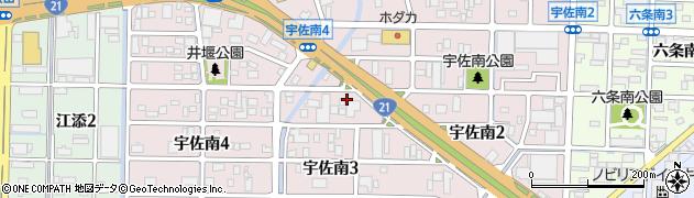 岐阜県岐阜市宇佐南周辺の地図
