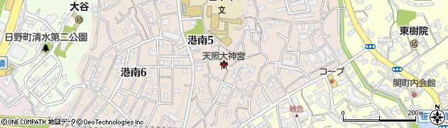 天照大神宮周辺の地図