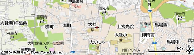 島根県出雲市大社町杵築南(下玄光院)周辺の地図