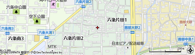 岐阜県岐阜市六条片田周辺の地図