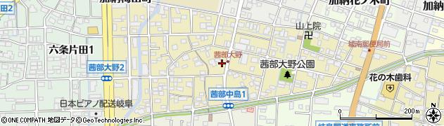 岐阜県岐阜市茜部大野周辺の地図