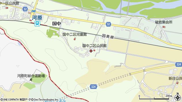 〒680-0457 鳥取県八頭郡八頭町国中の地図