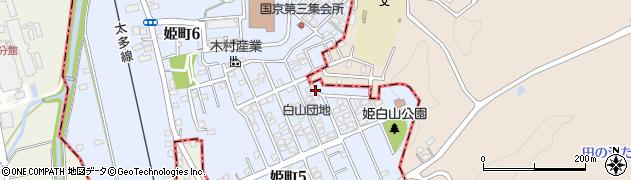 白山団地周辺の地図