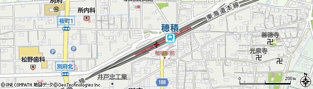 岐阜県瑞穂市周辺の地図