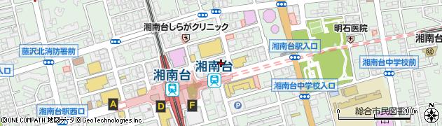神奈川県藤沢市湘南台周辺の地図
